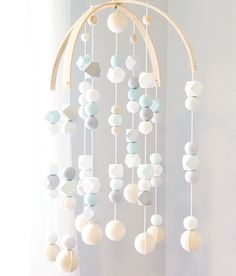 Slightly sophisticated, a touch whimsical, and all modern, our wooden geo mobile captures the beauty and simplicity of classic Scandinavian design. Each Geo Mobile features a combination of hand paint Más Boys Room Decor, Kids Room, Diy Bebe, Creation Deco, Baby Bedroom, Nursery Inspiration, Baby Decor, Handmade Baby, Trendy Baby