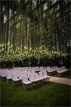 flower canopy wedding ceremony