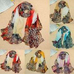 1PC Women Gradual Change Leopard Long Chiffon Wraps Shawl Soft Scarves - Clothing,Shoes & Accessories -Free Shipping for all to over 200 countries on Malloom.com