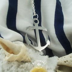Anchor pendant necklace free shipping  stainless от BorowskiStore