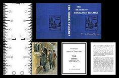 1:12 MINIATURE BOOK SHERLOCK HOLMES THREE STUDENTS ILLUSTRATED #LeeAnnBorgiaMiniatureBooks
