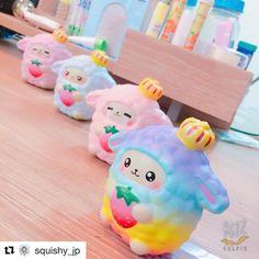 """1,771 Likes, 20 Comments - Copyright ©2016 Yumeno Squishy (@yumeno_squishy) on Instagram: """"Team of Dreamy Sheep #dreamysheep #squishyjapan #yumenosquishy #yumeno"""""""