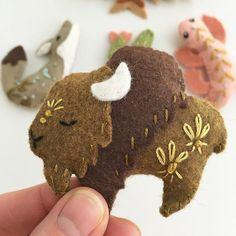 Felt Animals Spirit Creatures PDF download Plush Sewing | Etsy