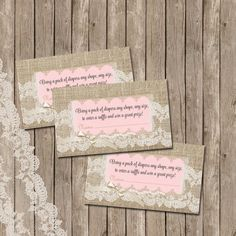 Burlap and Lace Baby Shower Invitation Invite by WallflowerEvents