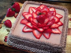Hazelnut Cardamom and Strawberry Layered Cake.  This is one of my many favorite raw websites...she gives such great instructions & youtube videos.