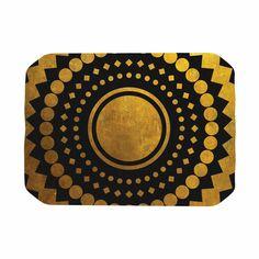 "Matt Eklund ""Gilded Confetti"" Gold Geometric Place Mat"
