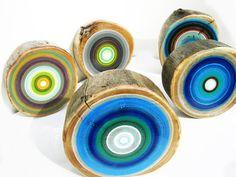tree rings    coasters