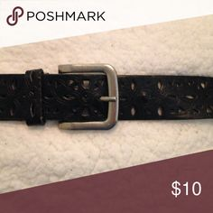 Beautiful laser cut belt Laser cut design with silver buckle.  Lightly wore looks new Accessories Belts
