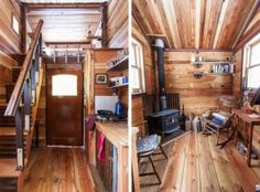 Rustic Tiny House Interior   Tiny House Pins Tiny houses fascinate me. Id have to get rid of stuff, but something is compelling about living simply in a small space.