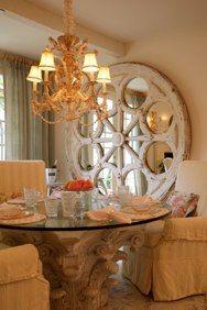 Dining in style! - #Tuscan #Home #Design - Find More Decor Ideas at:  http://www.IrvineHomeBlog.com/HomeDecor/  ༺༺  ℭƘ ༻༻  and Pinterest Boards   - Christina Khandan - Irvine California