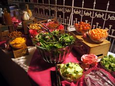 Salad bar ideas/different levels