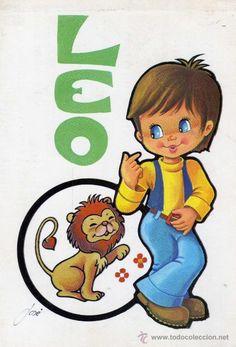 POSTAL HORÓSCOPO LEO ESCRITA CIRCULADA SELLO EDICIONES BERGAS (Postales - Dibujos y Caricaturas)