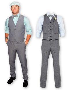 Mint and grey mens suits Groomsmen Vest, Groom Tux, Groom Attire, Groomsman Attire, Teal Shirt, Mint Pants, Grey Dress Pants, Wedding Tux, Wedding Attire