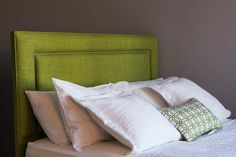 Beautiful Headboard in Lime colour - very fresh and summery