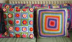 Crochet pillows: by Attic24