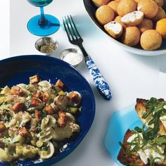 ... fried croutons orecchiette with cauliflower anchovies and fried