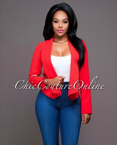 Chic Couture Online - Pauline Red Long Sleeves Jacket.(http://www.chiccoutureonline.com/pauline-red-long-sleeves-jacket/)