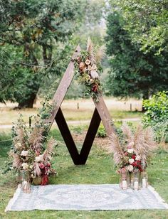 outdoor boho chic wedding arch ideas #weddingarches #weddingdecor #weddingideas #weddinginspiration #bohoweddings