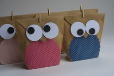Party favors - giveaways * birthday bag * bag * owl - a designer piece . Party favors – giveaways * birthday bag * bag * owl – a designer piece … # Designerstück Birthday Bag, Birthday Favors, Birthday Invitations, Party Favors, Happy Birthday, Moana Party, Maila, Goodie Bags, Stampin Up