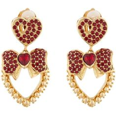 Dolce & Gabbana Heart Drop Crystal-Embellished Earrings ($560) ❤ liked on Polyvore featuring jewelry, earrings, heart shaped earrings, dolce gabbana earrings, earring jewelry, heart earrings and heart-shaped jewelry