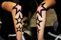 Tattoo Star as a elbow tattoo is always a good and classic tattoo.