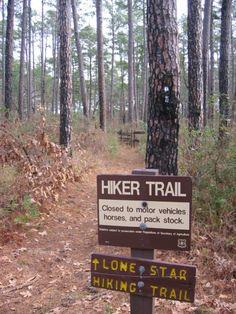 Lone Star Hiking Trail-West, near Houston TX. Free detailed topo maps.