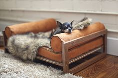 The Aldo Lounger Bamboo Pet Bed