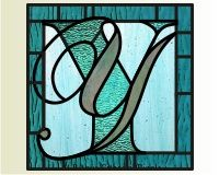 """THE LETTER """"Y""""~ stain glass"""