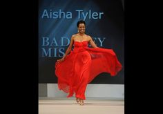 Aisha Tyler in Badgley Mischka - The Heart Truth's Red Dress Collection 2012 Fashion Show