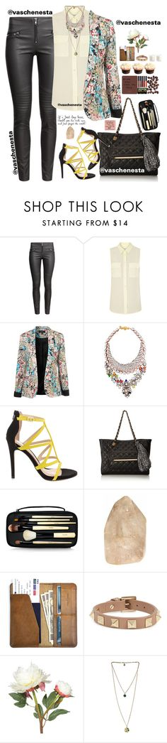 """""""Untitled #666"""" by loo0oove-16 ❤ liked on Polyvore featuring H&M, Equipment, CO, SHOUROUK, ALDO, Bobbi Brown Cosmetics, Valentino and OKA"""