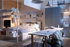 This studio apartment makes me drool. I confess! - via ikea.com ...