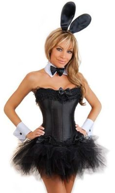 the violet vixen sexy bunny black corset skirt costume 7400 http - Corsets Halloween Costumes