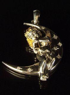Очень красивейше, шкентель ангела стерлингового серебра, шкентель ангела стража, ювелирные изделия ангела, религиозный шарм, античное серебро, винтаж, голый ангел