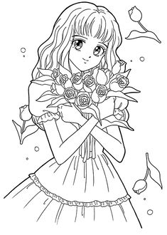 Meiko from Marmalade boy coloring pages for kids, printable free
