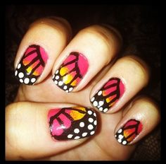 Butterflies  by Tresleches_ from Nail Art Gallery