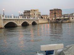 Sunset over a beautiful bridge in Taranto, Italy #JetsetterCurator