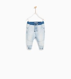 DENIM JOGGER TROUSERS-JEANS-BABY BOY | 3 months - 4 years-KIDS | ZARA United States