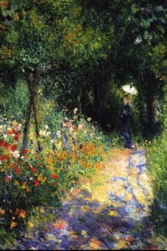 Woman at the garden - Pierre - Auguste Renoir, 1873, 54.61 x 65.41, oil on canvas, Private Collection