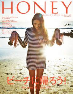 雑誌 HONEY Surf Girls, Shirt Dress, T Shirt, Surfing, Magazine, Color, Inspiration, Dresses, Style
