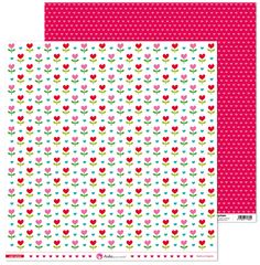 Papel con estampado de flores.  Medidas: 30,5x30,5cm, 180g. Libres de ácido y lignina, para asegurar las óptima conservación de las fotos en tus creatividades de scrapbooking. Hecho en España.