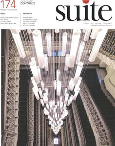 #deMajo chandelier for Hotel Gallia Exclesior, #Milan, on the cover of #Suite