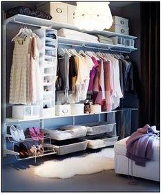 Closet/clothes storage ideas
