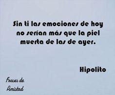 Frases de amelie de Hipolito