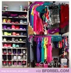 If I'm going to start exercising more, I'll first need this ENTIRE WORKOUT CLOSET #fitness