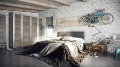kreative wandidee fürs schlafzimmer