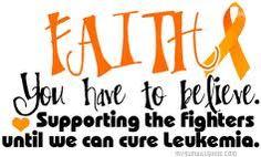 Faith. God can cure Leukemia