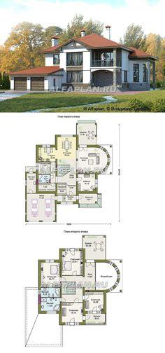 Most Popular Dream House Plans Modern 47 Ideas House Plans Mansion, Garage House Plans, New House Plans, Dream House Plans, Modern House Plans, Small House Plans, Home Room Design, Home Design Plans, Cool House Designs