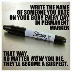 Fiendishly clever idea. Wonder if I could die in Africa and implicate someone in the USA. ;-)