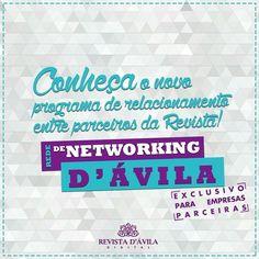 """Junto ao Clube de Vantagens a Revista D'ávila também tem orgulho de apresentar o """"Rede de Networking D'ávila"""" que surgiu com o propósito de estreitar a relação entre nossos parceiros sendo a Revista D'ávila a facilitadora desta interação. Quer desfrutar das vantagens de ser nosso parceiro aumentar a visibilidade da sua marca e ainda fazer contatos importantes para os negócios?  Anuncie na Revista http://ift.tt/1Jdo2BH . E para nossos parceiros vocês já podem conferir algumas das Vantagens…"""
