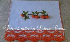 Aqui vocês podem visualizar melhor todos os modelinhos de panos de copa by Lúcia Costa.     Pano de copa tomate      Pano de copa caqui     ...